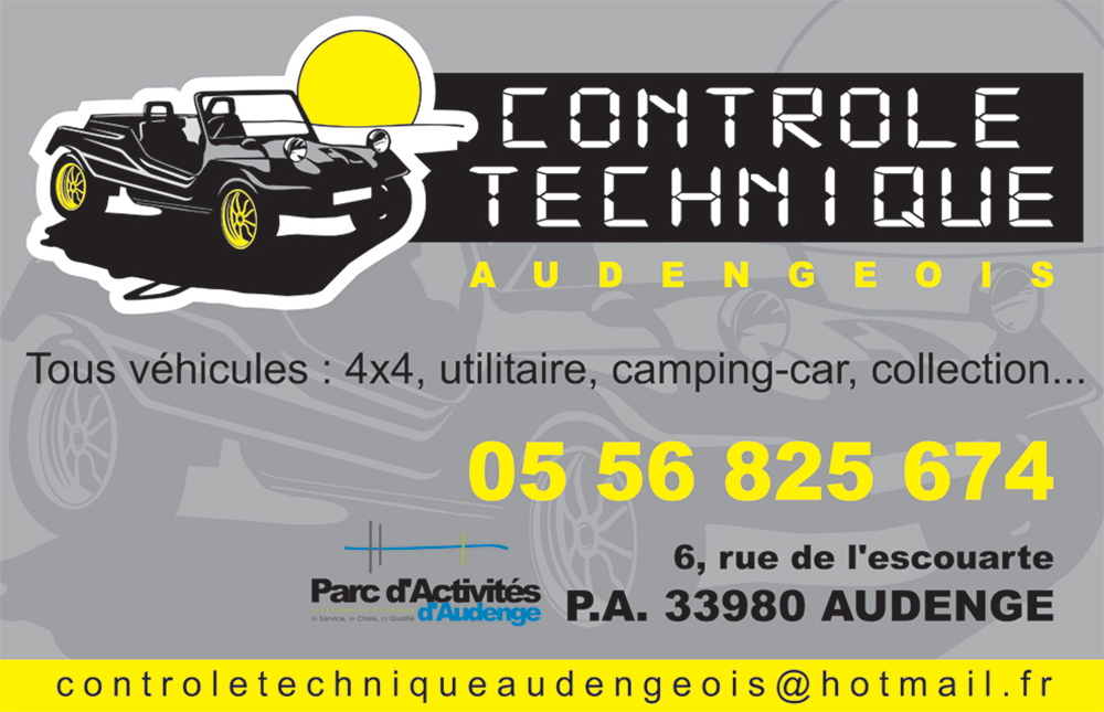 controle technique audengeois automobile controle technique 33980 audenge. Black Bedroom Furniture Sets. Home Design Ideas