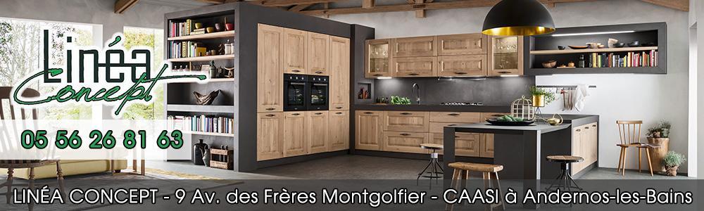 Lin a concept agencement cuisine cuisiniste 33510 andernos - Linea cuisine ...